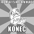 Konec archivu rozšíření pro Joomla! 1.5